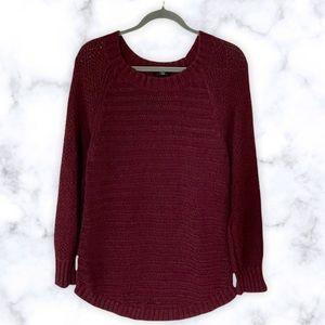 Calvin Klein XL burgundy chunk knit sweater fall